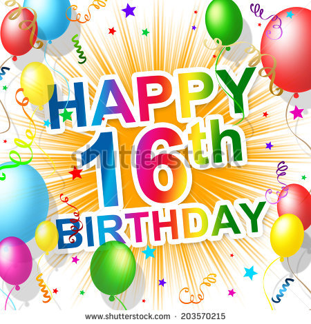 16th birthday wallpaper ; stock-photo-sixteenth-birthday-showing-greetings-party-and-congratulation-203570215