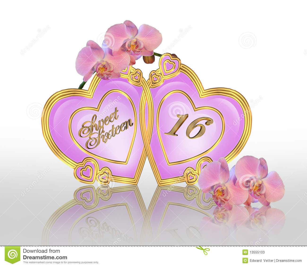 16th birthday wallpaper ; sweet-16-birthday-graphic-orchids-13555103