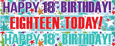 18th birthday banners ; 1