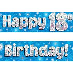 18th birthday banners ; blue-age-18-banner-big