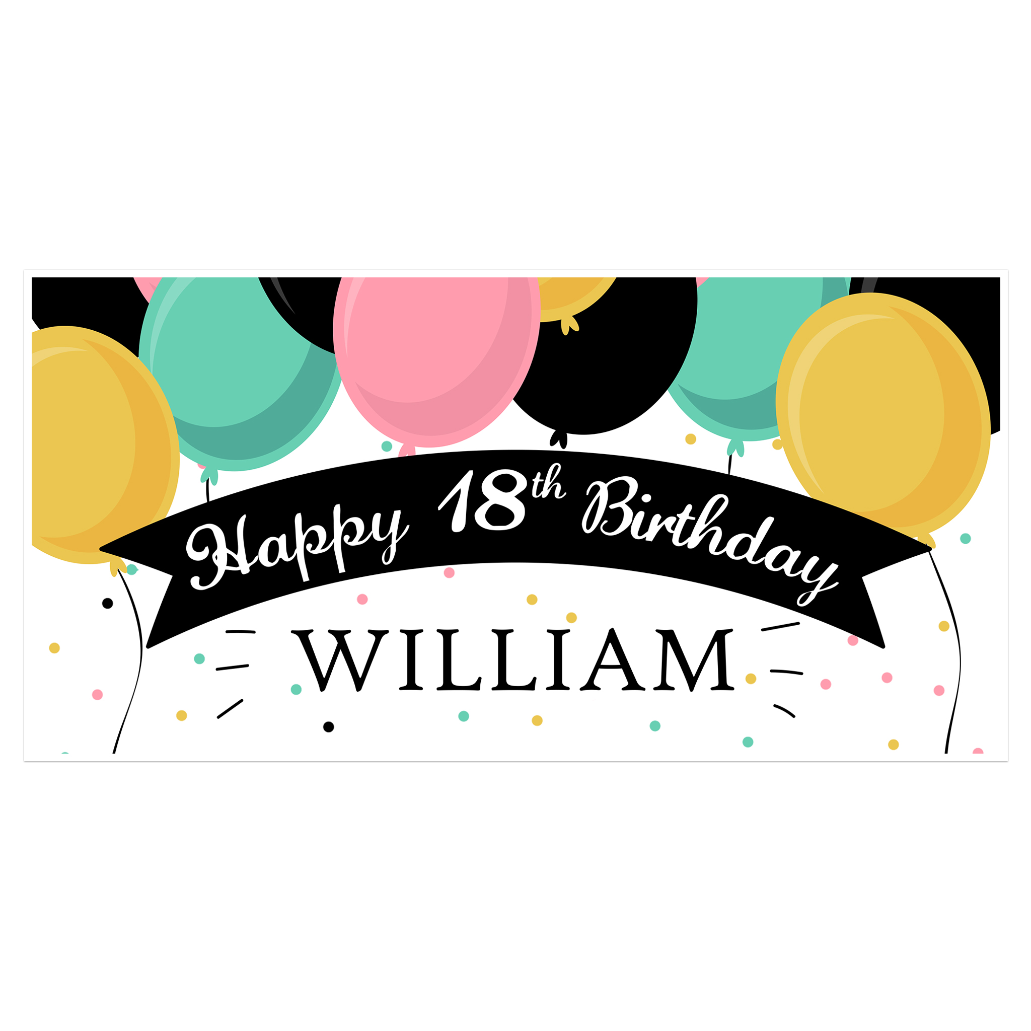 18th birthday banners personalized ; 18th-birthday-banner-05