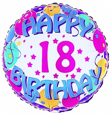 18th birthday clipart ; 1242509