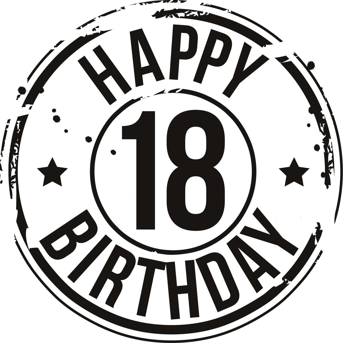 18th birthday clipart ; 1242544