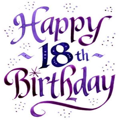 18th birthday clipart ; 1242559