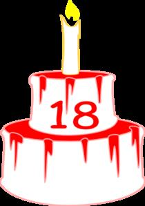 18th birthday clipart ; 18th-birthday-cake-clipart-1