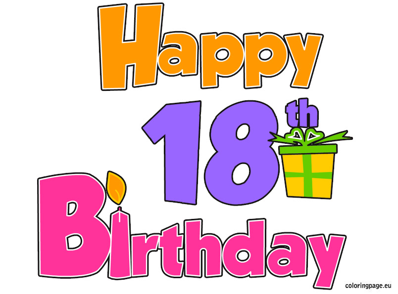18th birthday clipart ; 18th-birthday-clipart-free-2