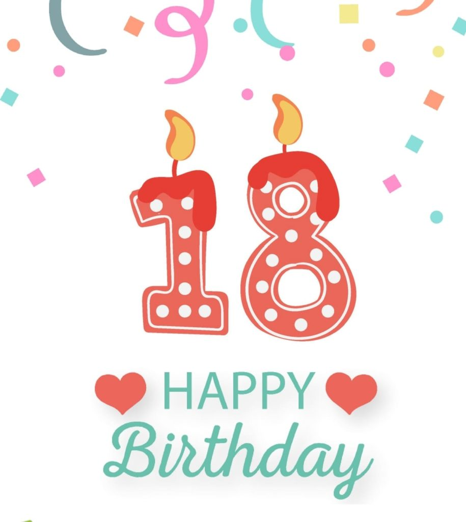 18th birthday clipart ; Happy-wish-for-someone-that-turns-18-years-old-min-915x1024