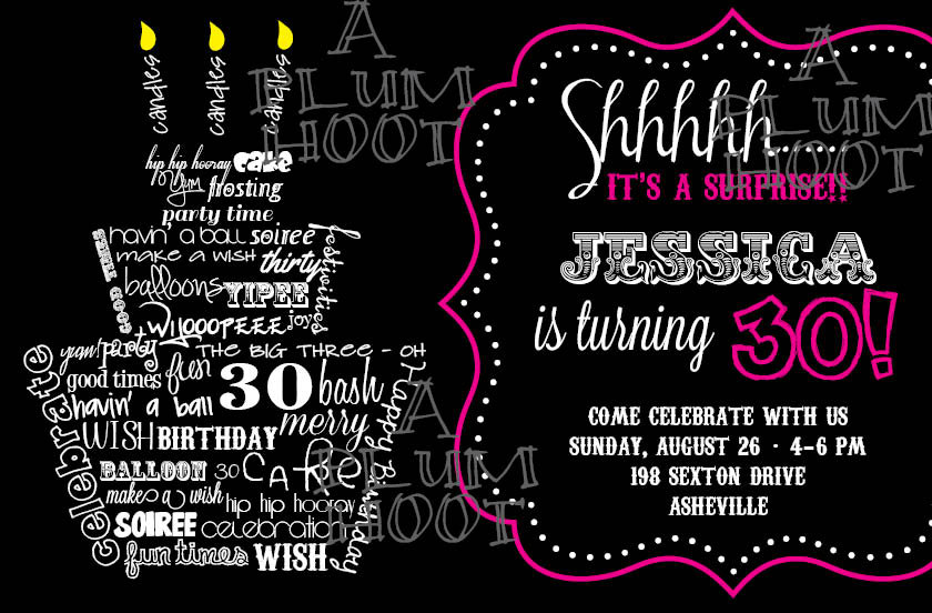 18th Birthday Invitations Free Printable Templates Surprise 30th Party Invitation