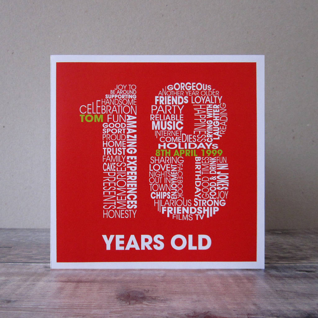 18th birthday poster ; original_personalised-18th-birthday-card