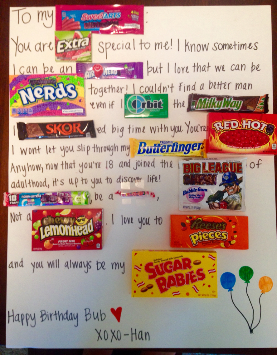 Candy Poster Ideas For Best Friend