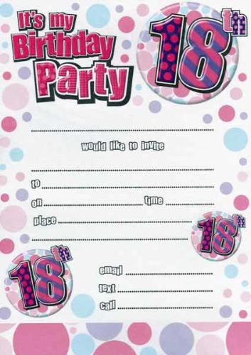 18th birthday tags ; 18th%2520birthday%2520party%2520invitations%2520circle