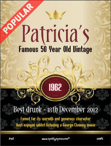 18th birthday wine labels ; label106a