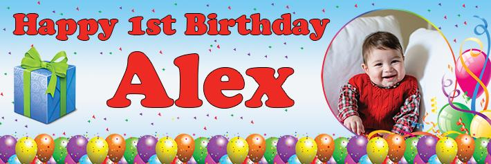 1st birthday banner ; BB06-AA-preview