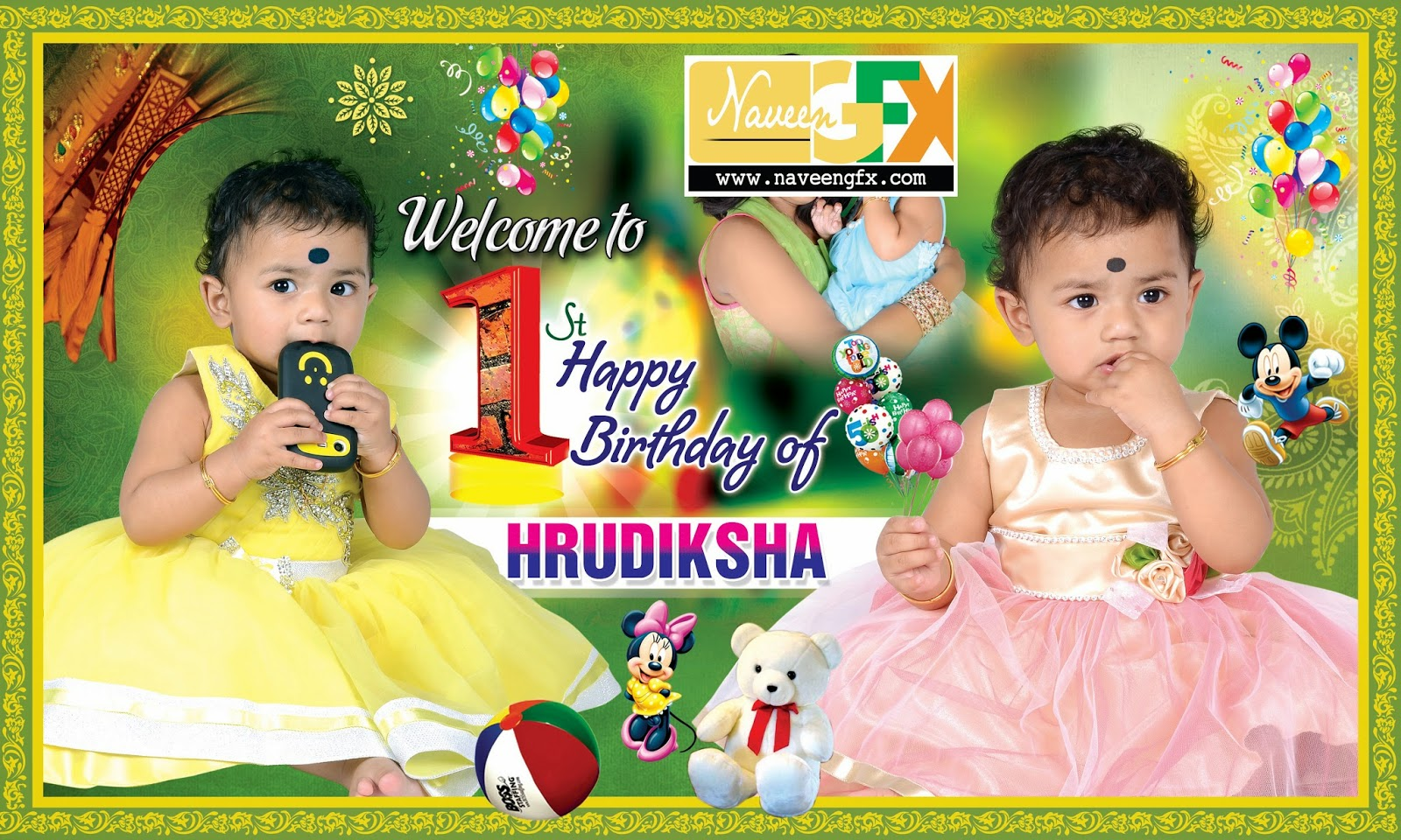 1st birthday banner background design ; 070ffb8be0a0aa8d29908dd66c3ffb10