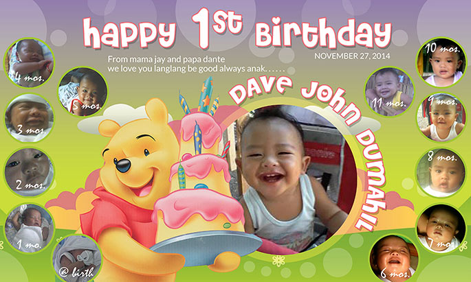 1st birthday banner background design ; 3025625dabad8099c41147dc07fa93e8