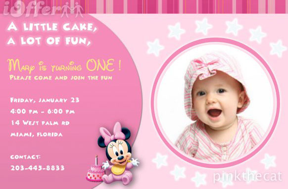 1st birthday banner background design ; birthday-invitations