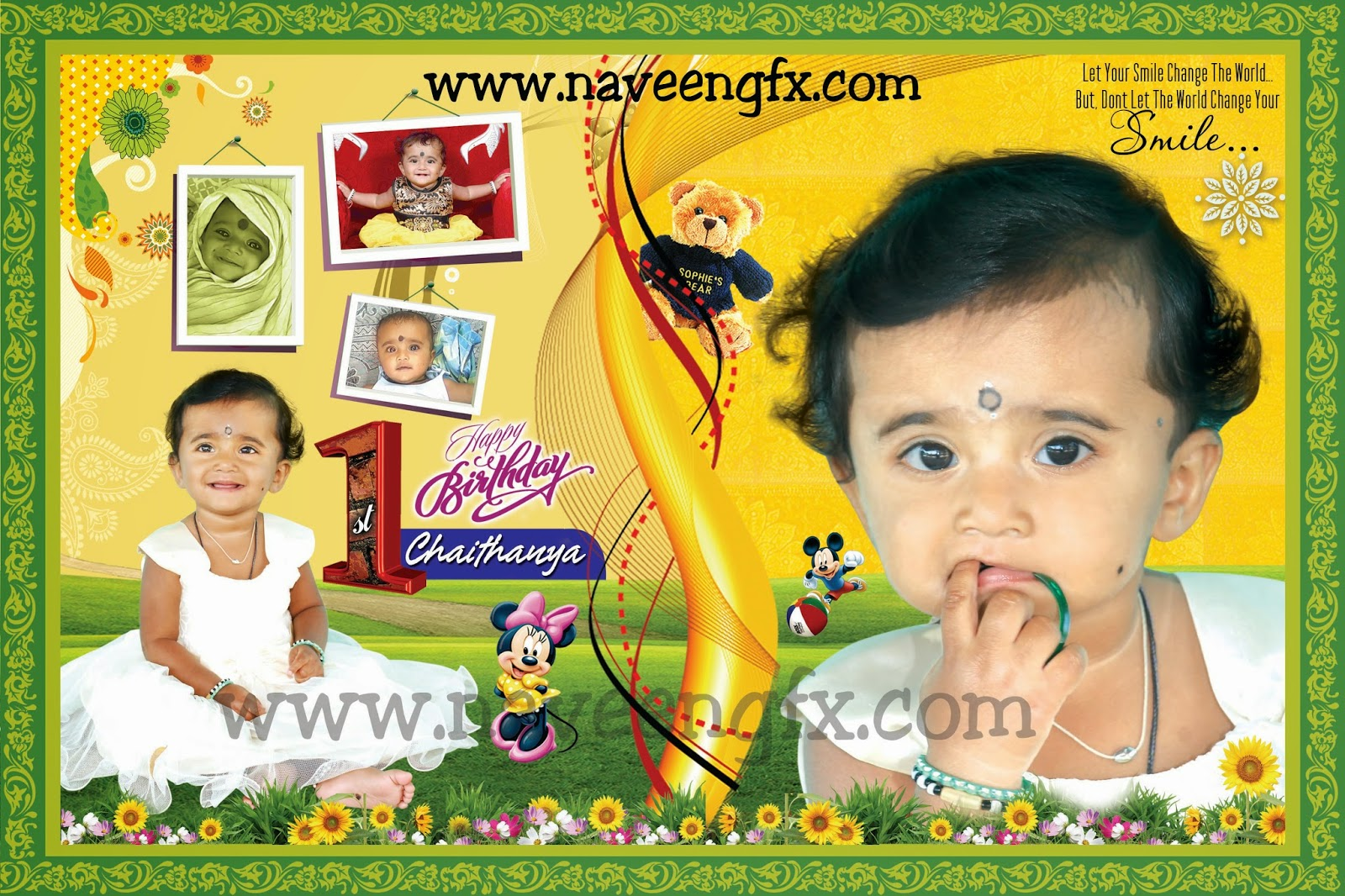 1st birthday banner background design ; feca1e4156da64aaca9b1910be24ed77