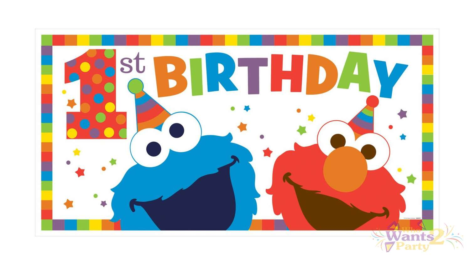 1st birthday banner design ; elmo-1st-birthday-banner