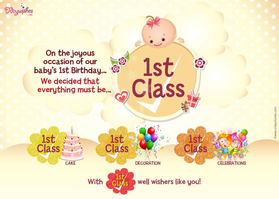 1st birthday card wishes ; 1class-celebrations-first-birthday