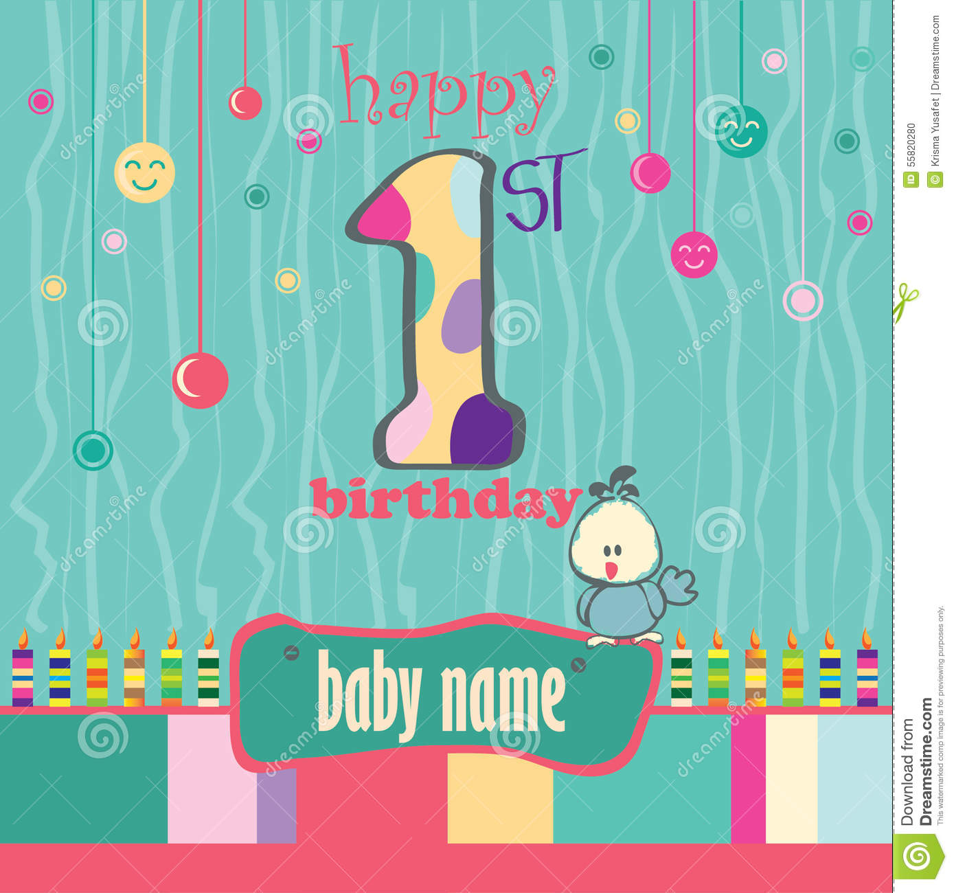 1st birthday card wishes ; st-birthday-greeting-card-baby-55820280