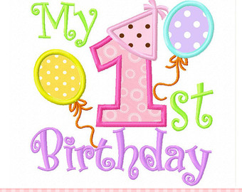 1st birthday clipart ; 1652108