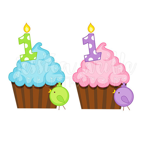 1st birthday clipart ; baby-birthday-clipart-first-12