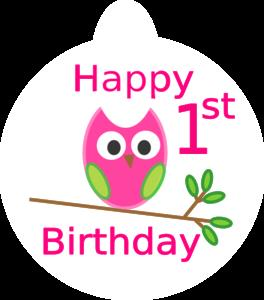 1st birthday clipart ; owl-1st-birthday-md