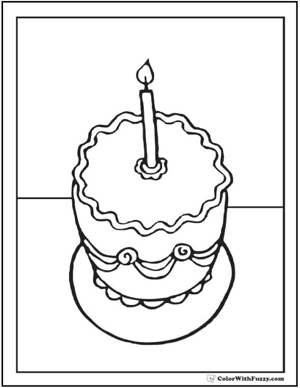 1st birthday coloring pages ; 1st-birthday-coloring-pages