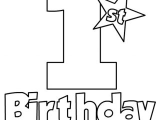 1st birthday coloring pages ; best-happy-1st-birthday-coloring-pages-30