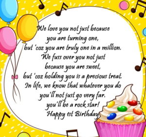 1st birthday greeting card messages ; 1st-birthday-wishes-for-one-year-old-happy-birthday-message-min-300x282