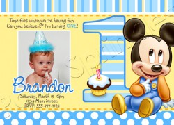1st birthday invitation mickey mouse theme ; Mickey-Mouse-First-Birthday-Invitations-mixed-with-your-creativity-will-make-this-looks-awesome-1-250x180