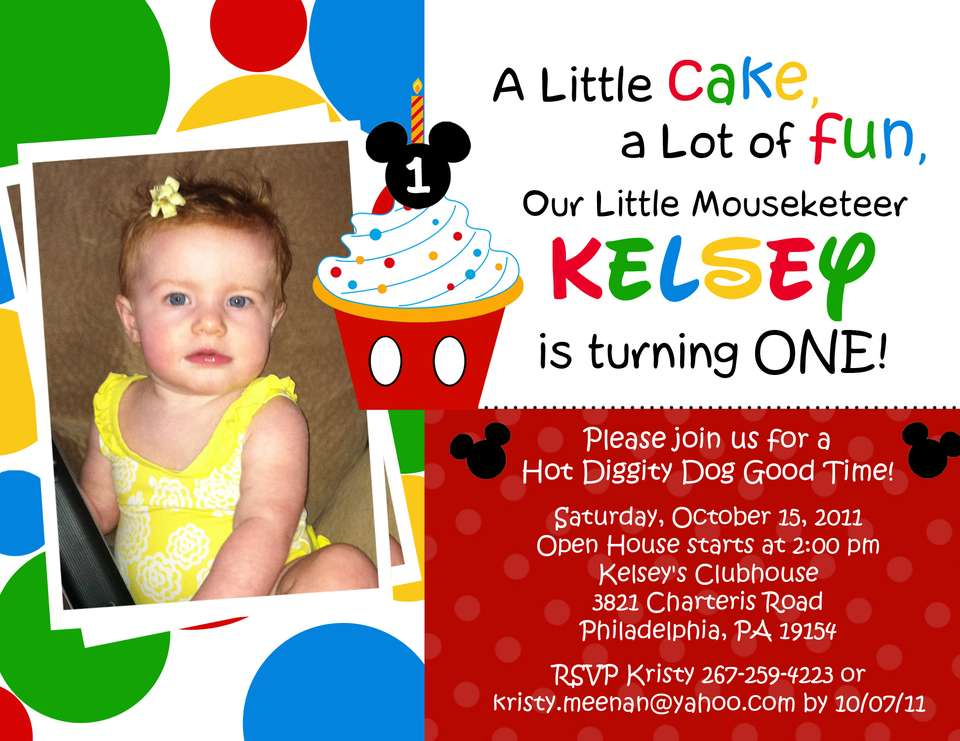 1st birthday invitation mickey mouse theme ; kelsey_s_mouse_inspired_cupcake_invitation-5x7-version_3