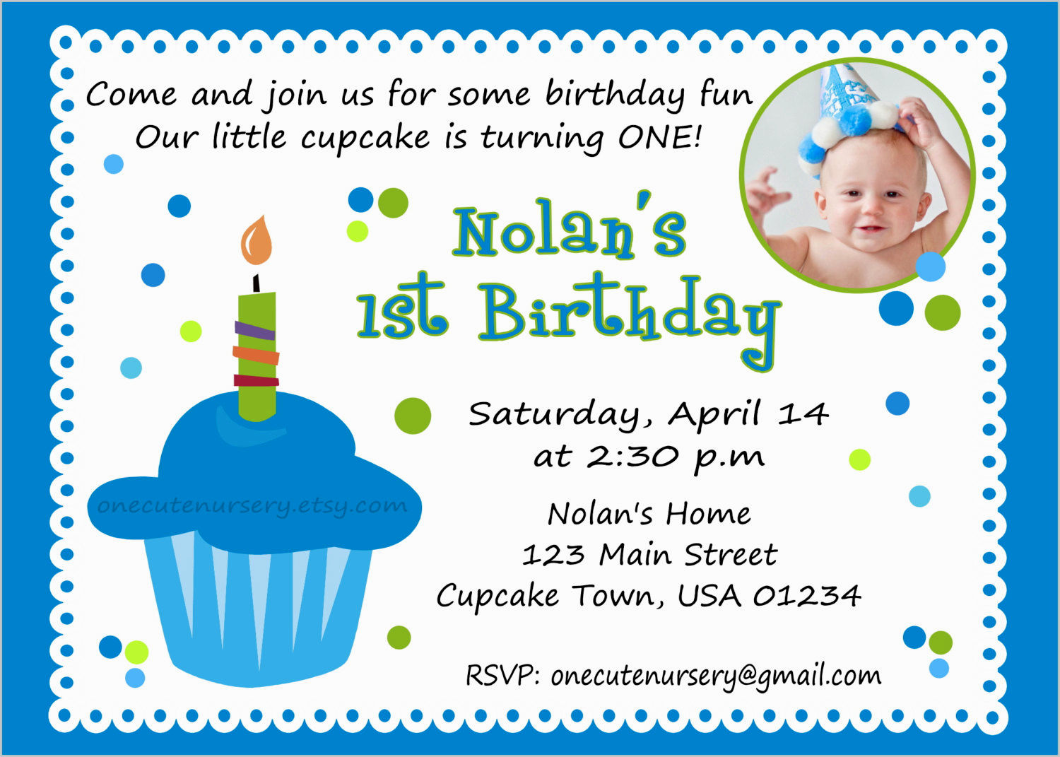 1st birthday invitation quotes for baby boy ; free_baby_1st_birthday_invitation_card_template_2