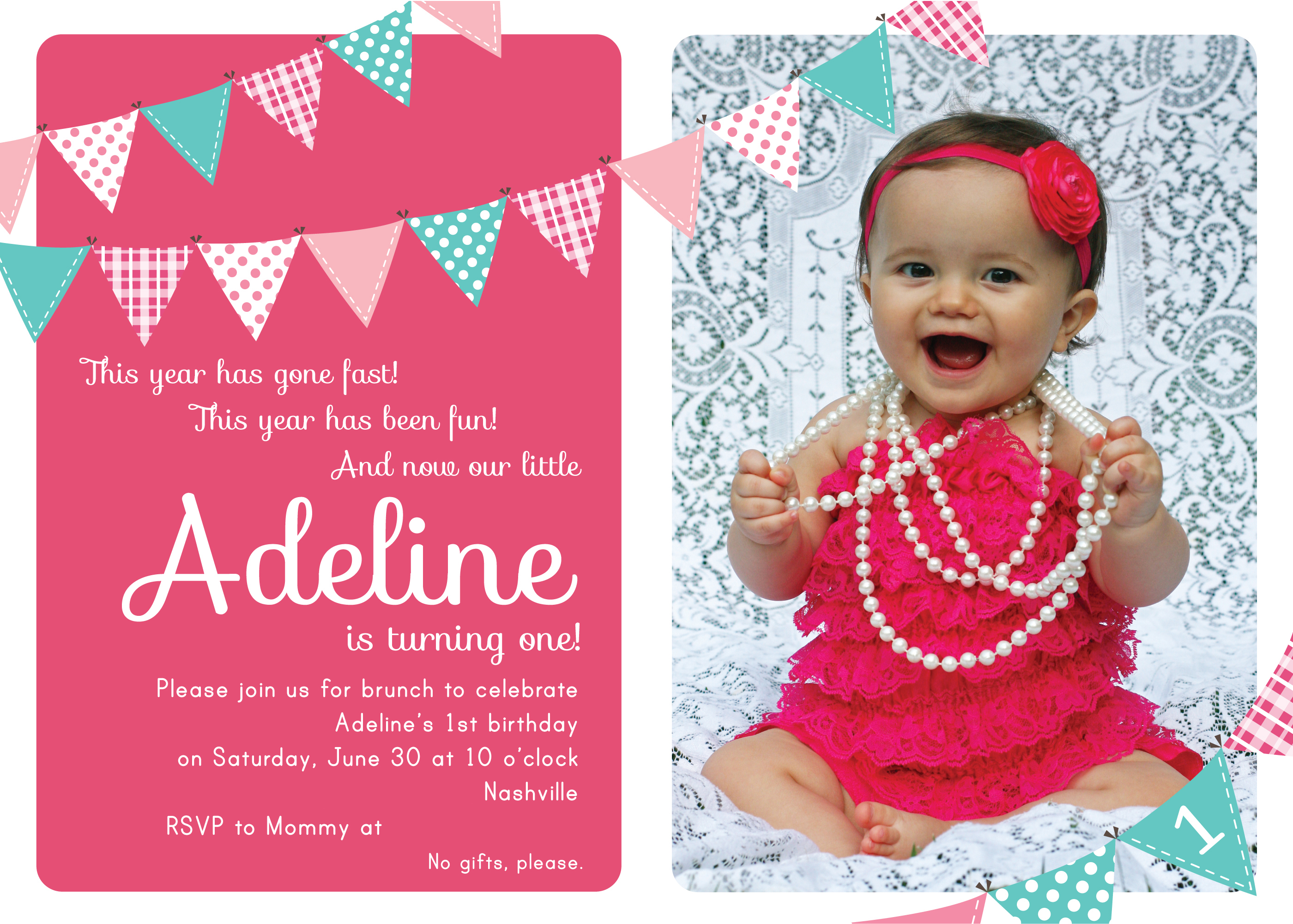 1st birthday invitation quotes for baby girl ; 1St-Birthday-Photo-Invitations-combined-with-your-creativity-will-make-this-looks-awesome-2
