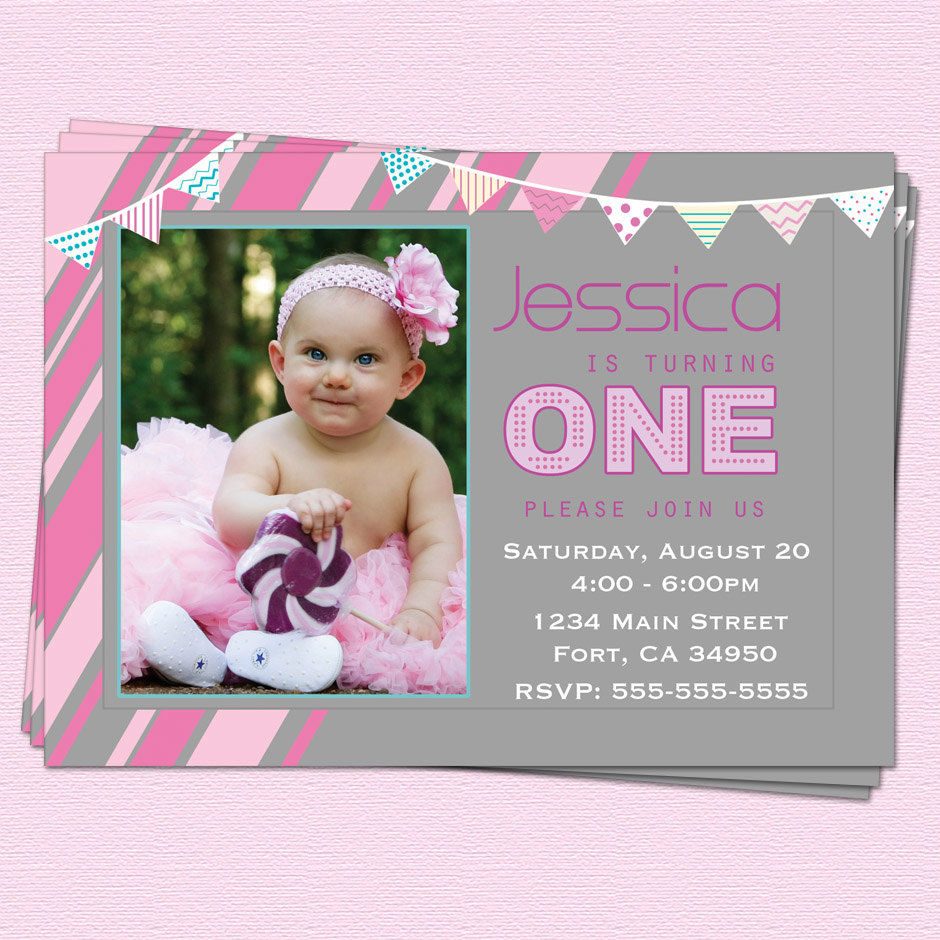 1st birthday invitation quotes for baby girl ; Cool-1St-Birthday-Invitations-Girl-For-Additional-Printable-Birthday-Invitations