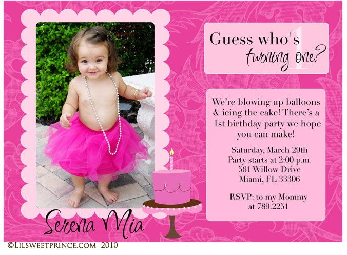 1st birthday invitation quotes for baby girl ; Photo-Birthday-Invitations-Mickey-Mouse
