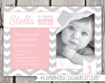 1st birthday invitation quotes for baby girl ; il_340x270