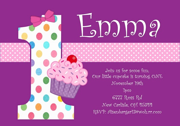 1st birthday invitation quotes for daughter ; cute-birthday-invitation