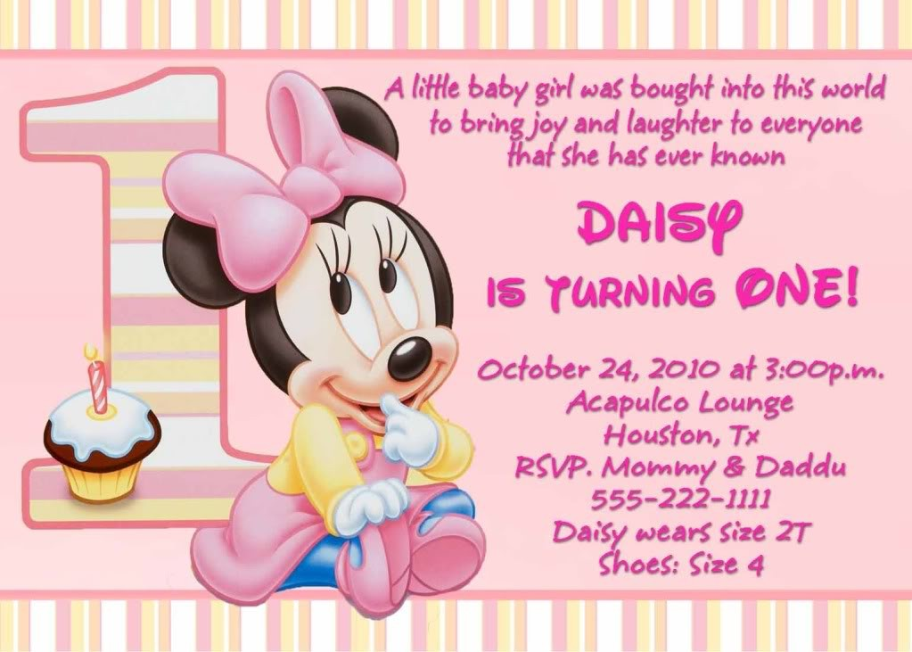 1st birthday invitation quotes for daughter ; minnie_mouse_1st_birthday_invitation_wording1