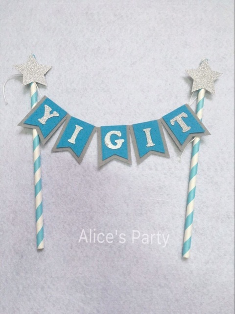 1st birthday name banner ; New-Baby-Boy-Name-Cake-Bunting-baby-shower-blue-cake-banner-personalised-bunting-hot-1st-birthday