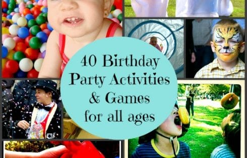 1st birthday party activities for kids ; Collage-490x315