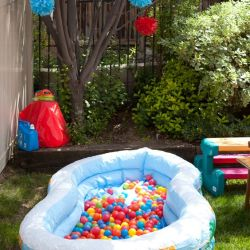 1st birthday party activities for kids ; thumb-1st-birthday-party-activity-entertainment-ball-pit-great-idea