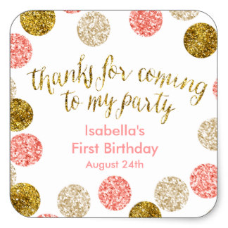 1st birthday stickers personalized ; 1st_birthday_pink_and_gold_glitter_square_sticker-r292cd54e75714070a1efaa1a121e8a62_v9i40_8byvr_324