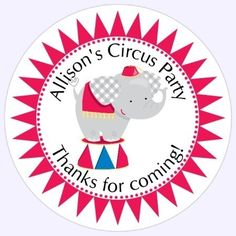 1st birthday stickers personalized ; edf4594c3d1f75d85d621458b602012a--label-stickers-circus-birthday