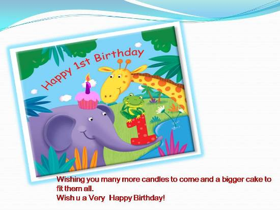 1st birthday wishes card for baby boy ; 305229