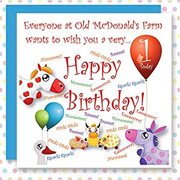 1st birthday wishes card for baby boy ; 616wQSOvEYL