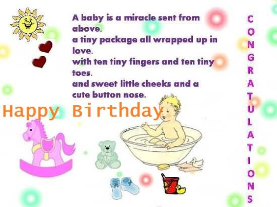 1st birthday wishes card for baby boy ; Nice-Poem-Birthday-Wishes-For-1st-Baby-Boy-E-Card-540x405