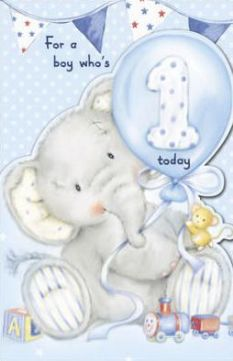 1st birthday wishes card for baby boy ; bfd8acd48d53cb77a9f346bd9b5883fa
