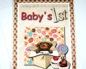 1st birthday wishes card for baby boy ; il_340x270