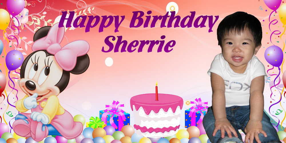 2 birthday banner ; 4-X-2-SHERRIE-Mickey-Mouse-Birthday-Banner-Singapore